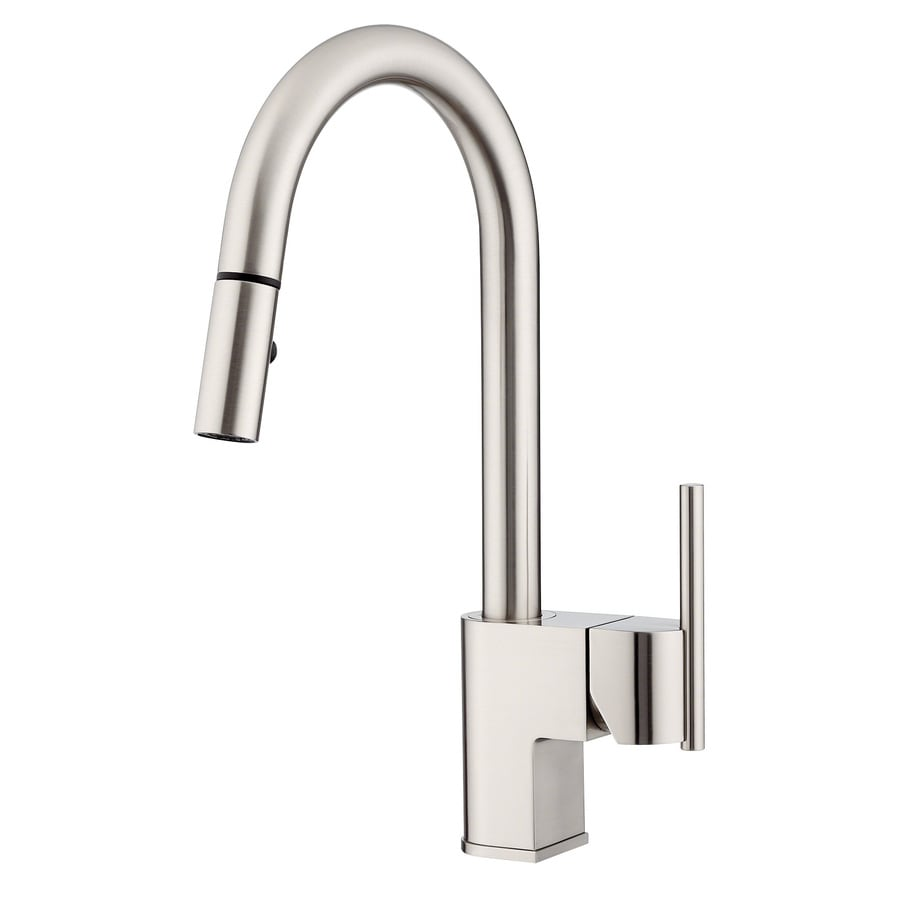shop danze como stainless steel 1 handle pull down kitchen