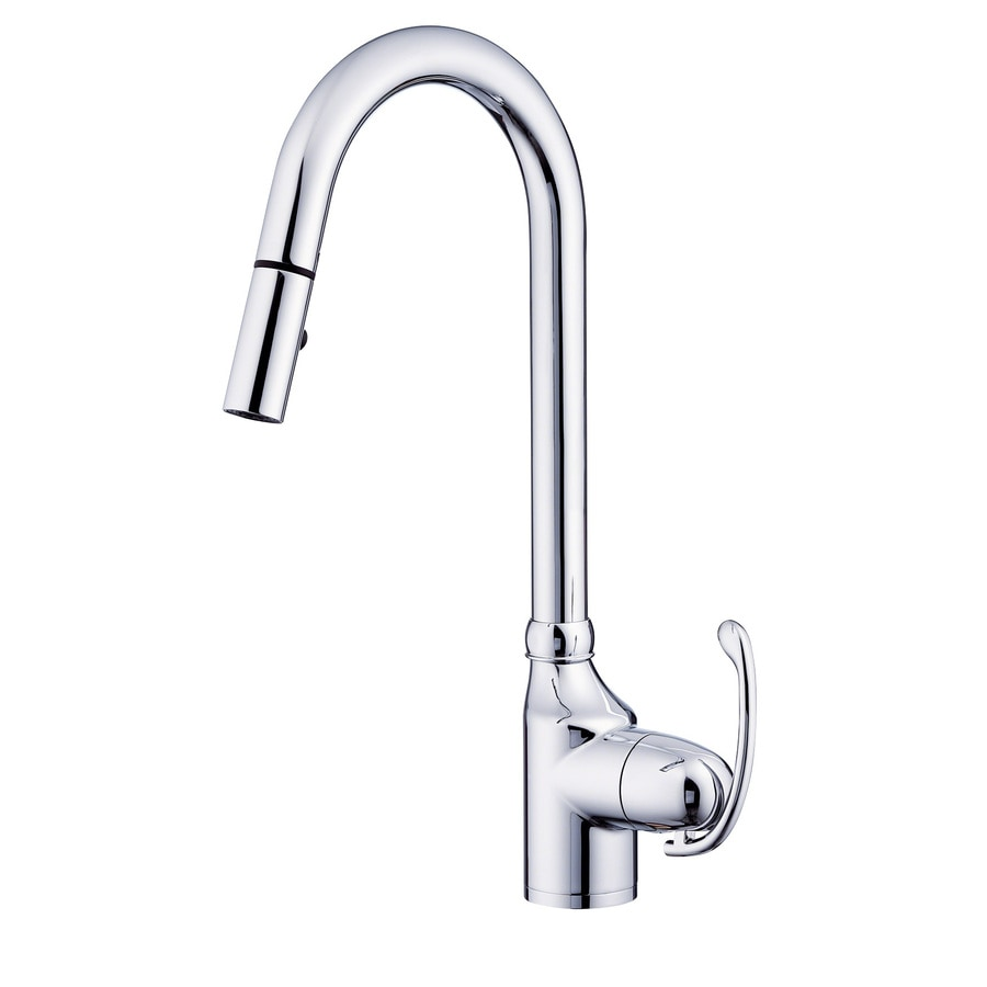 danze pull down kitchen faucet shop danze anu chrome 1 handle pull kitchen faucet at 23445