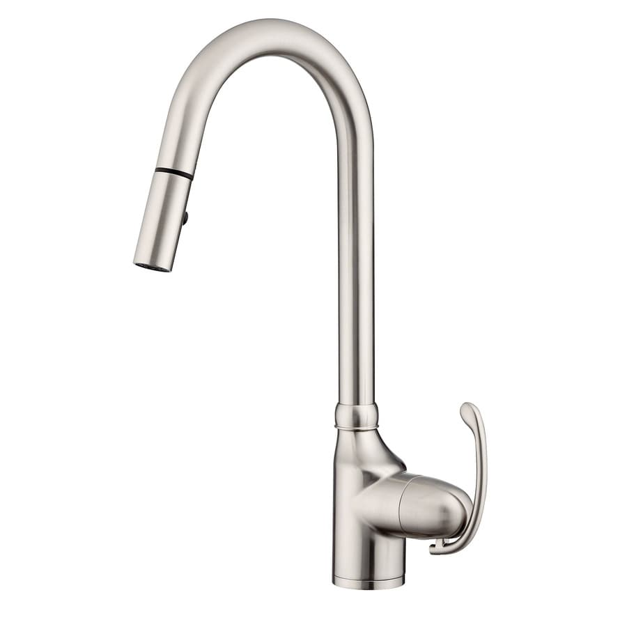 Danze Anu Stainless Steel 1 Handle Deck Mount Pull Down Kitchen Faucet