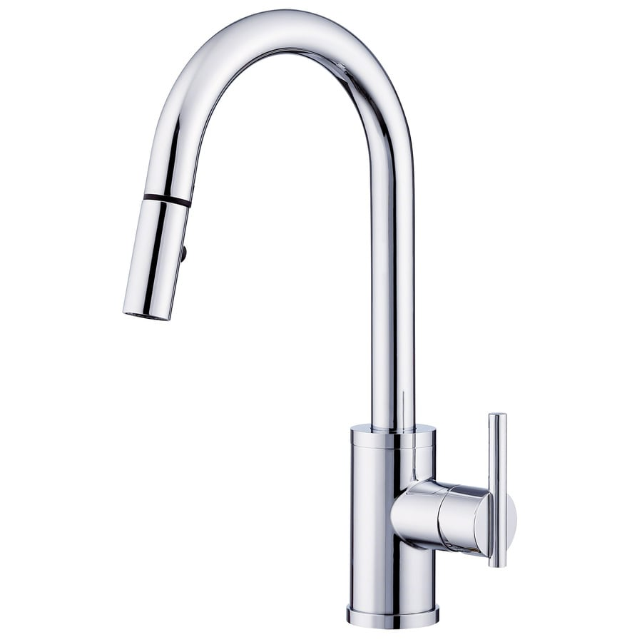 danze parma kitchen faucet shop danze parma chrome 1 handle pull kitchen faucet 17115