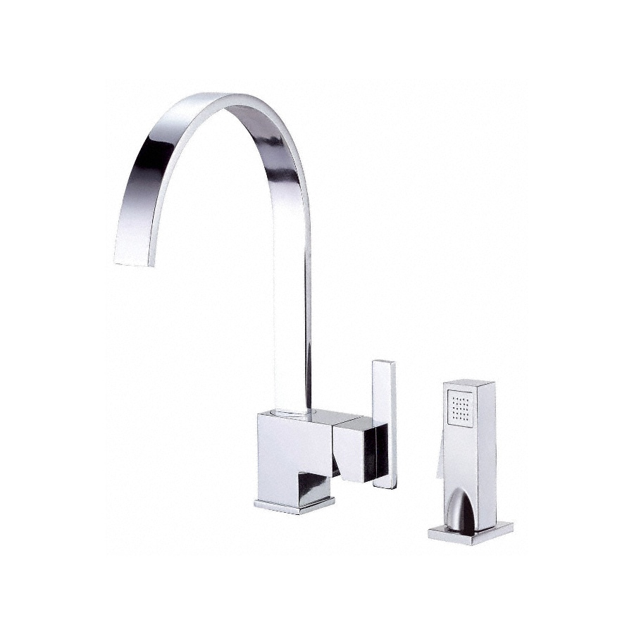 Danze Sirius Chrome 1-Handle High-Arc Kitchen Faucet with Side Spray