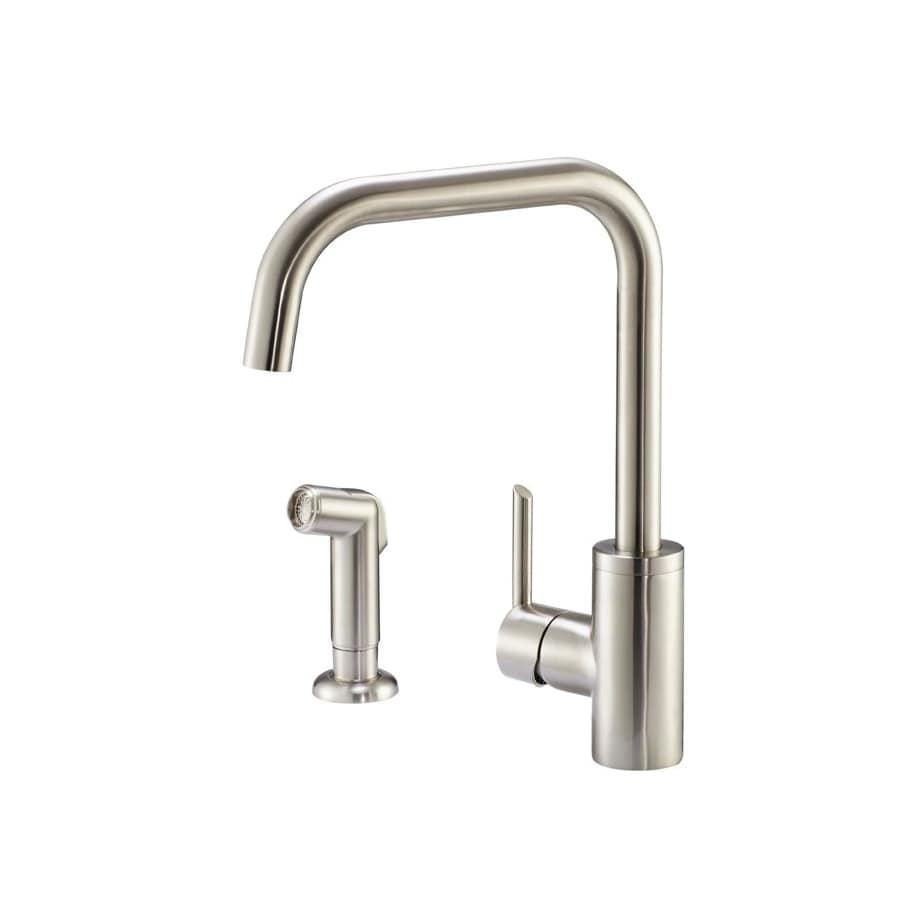 Danze Trace Stainless Steel 1-Handle High-Arc Kitchen Faucet with Side Spray