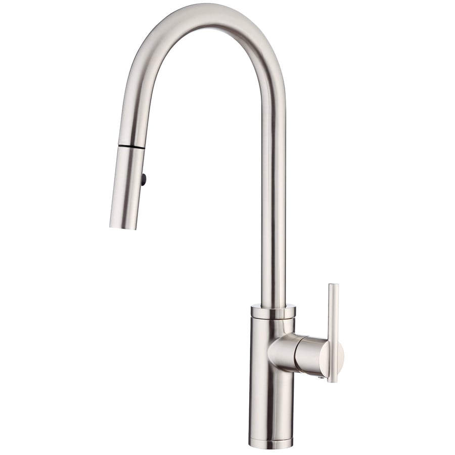 danze pull down kitchen faucet shop danze parma stainless steel 1 handle pull 23445