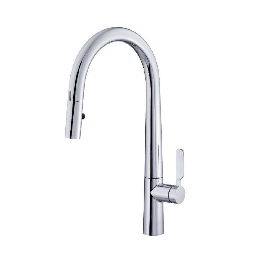 wave chrome 1 handle pull down touchless kitchen faucet at