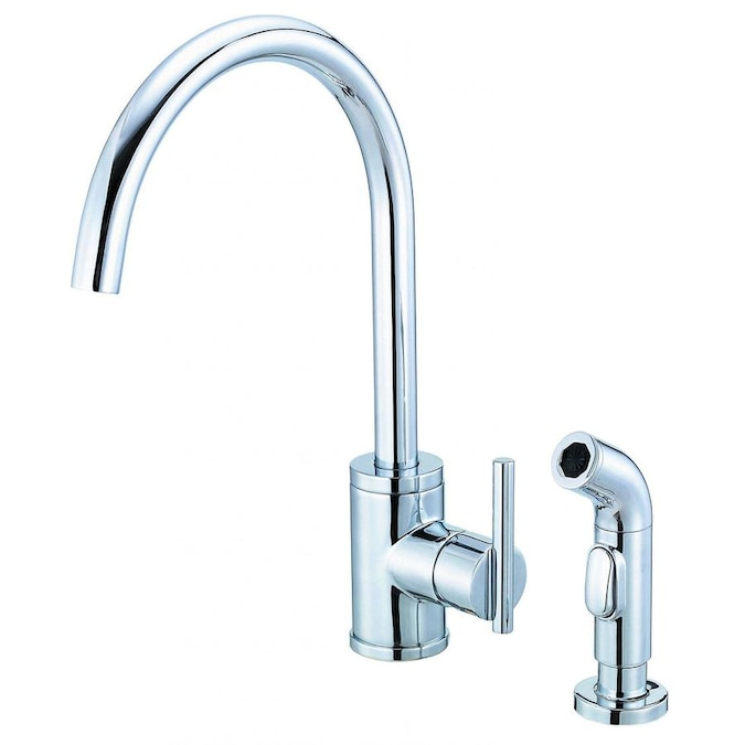 Danze Parma Stainless Steel 1 Handle Deck Mount High Arc Handle Kitchen Faucet In The Kitchen Faucets Department At Lowes Com
