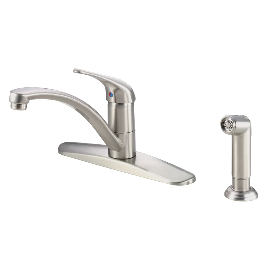Danze Melrose Stainless Steel 1-Handle Low-Arc Kitchen Faucet