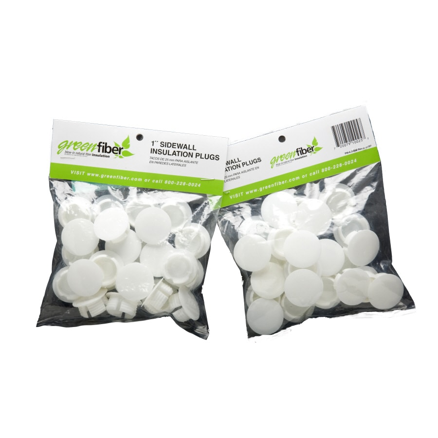 25-ct 1-in White Plastic Insulation Plugs