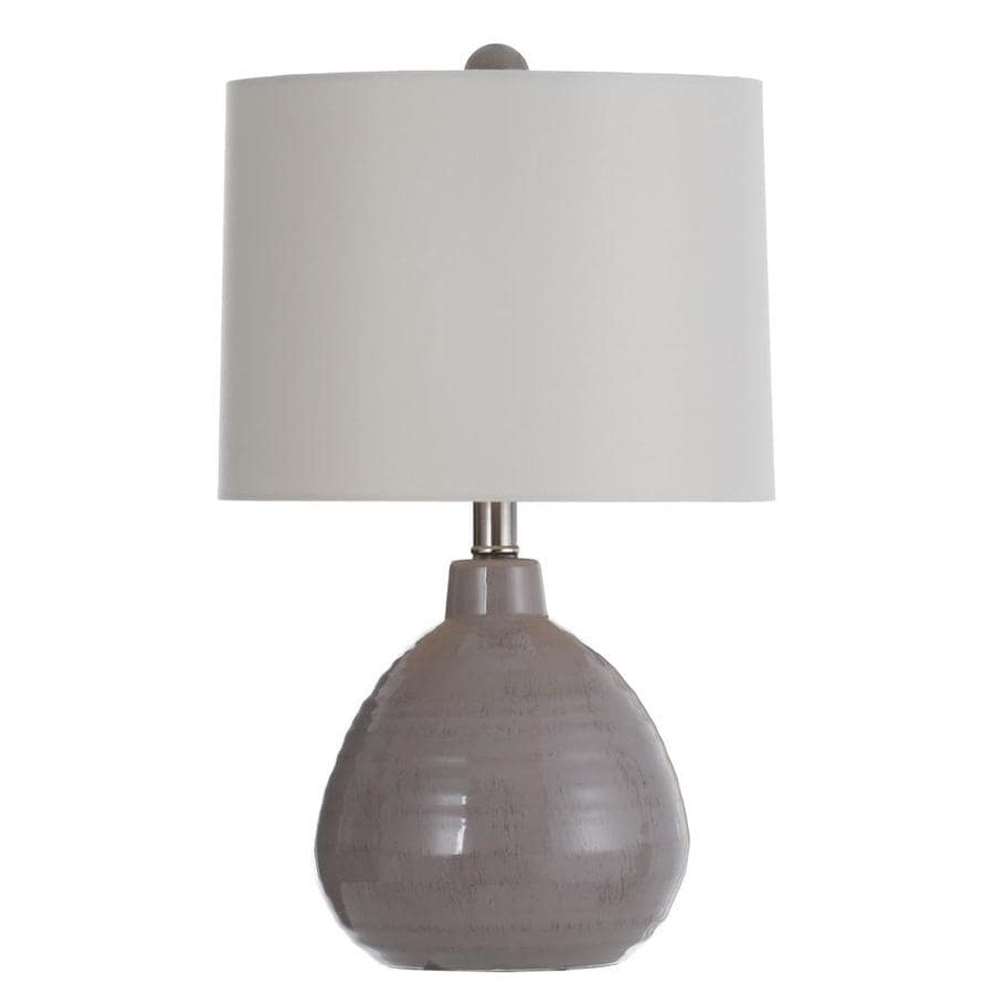 Stylecraft Home Collection 21 5 In Cool Gray Table Lamp