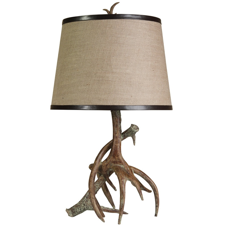 StyleCraft Home Collection 26.5-in Dalton Standard 3-Way Switch Table Lamp with Fabric Shade