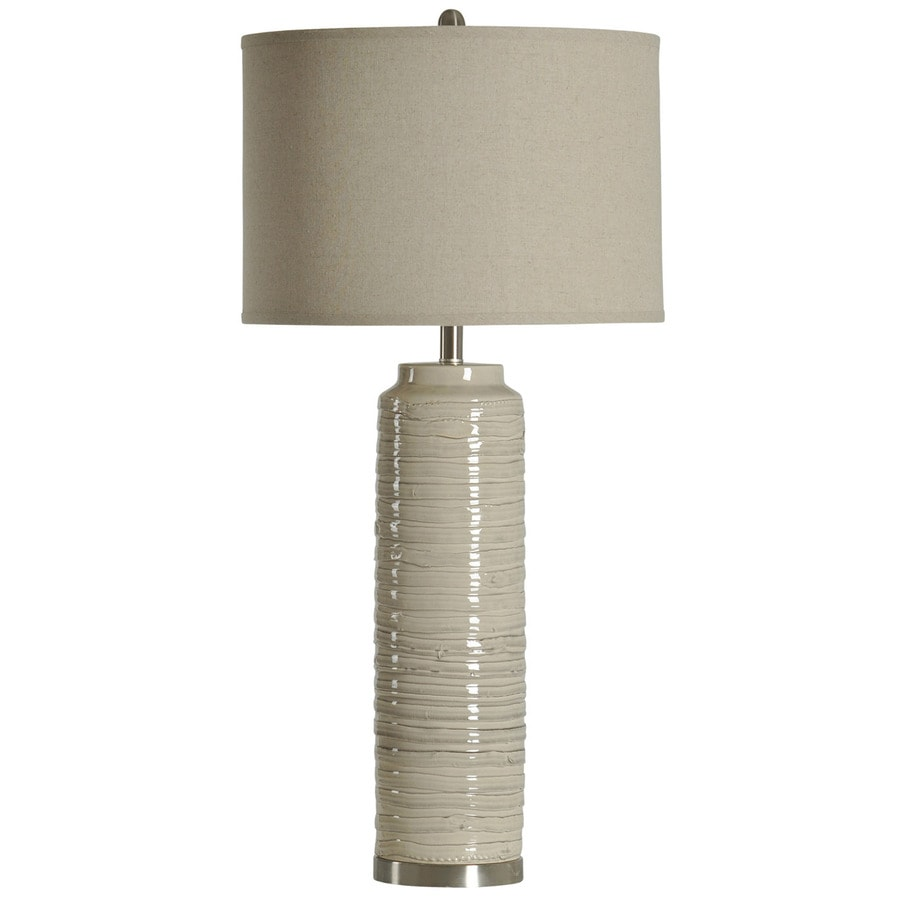 StyleCraft Home Collection 39-in Anastasia Standard 3-Way Switch Table Lamp with Fabric Shade