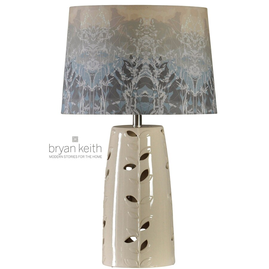 StyleCraft Home Collection 30-in 3-Way San Mateo Indoor Table Lamp with Fabric Shade