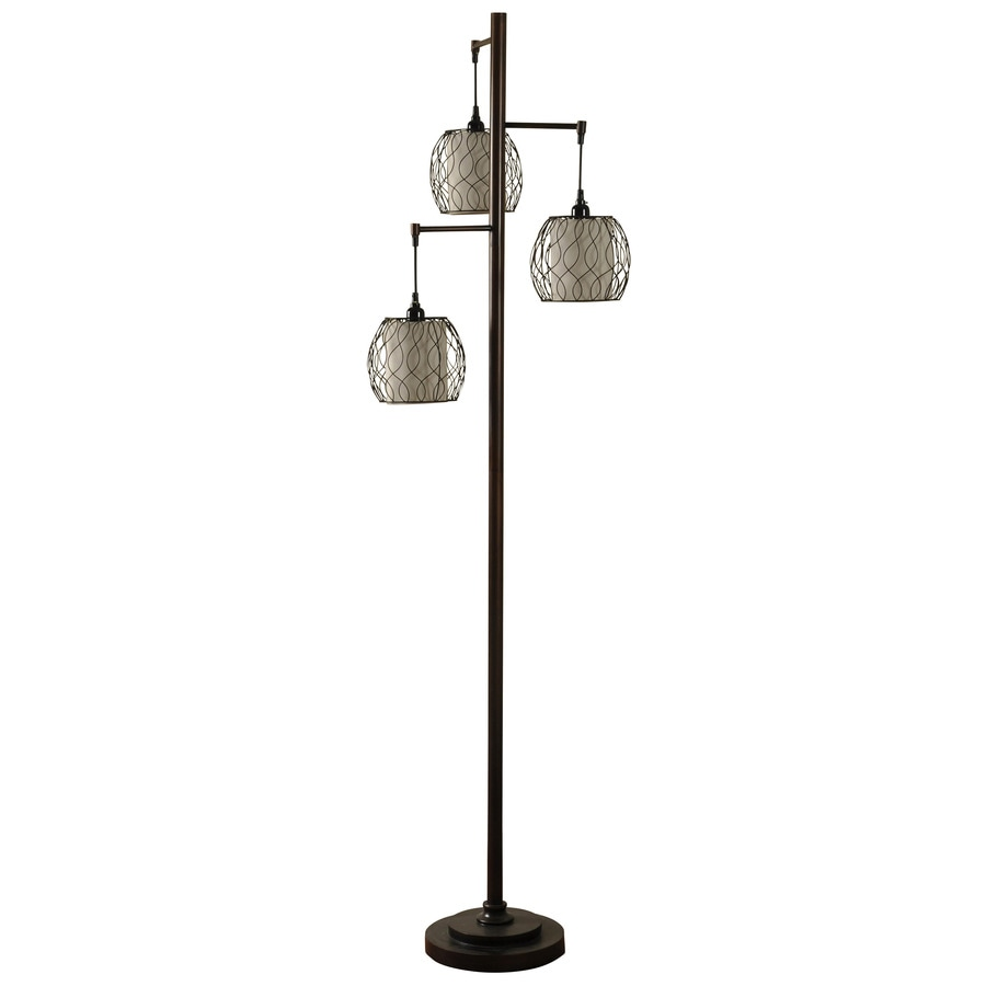 Good StyleCraft Home Collection 72 In Bronze 3 Way Floor Lamp With Metal Shade