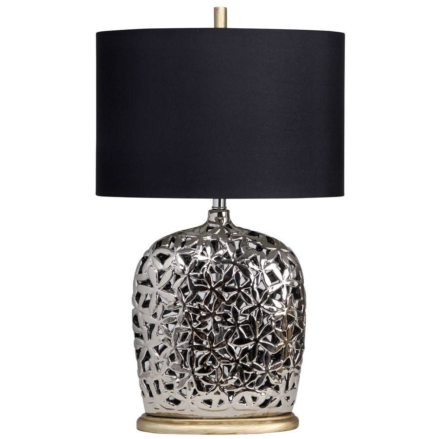 StyleCraft Home Collection 30-in 3-Way Titanium Indoor Table Lamp with Fabric Shade