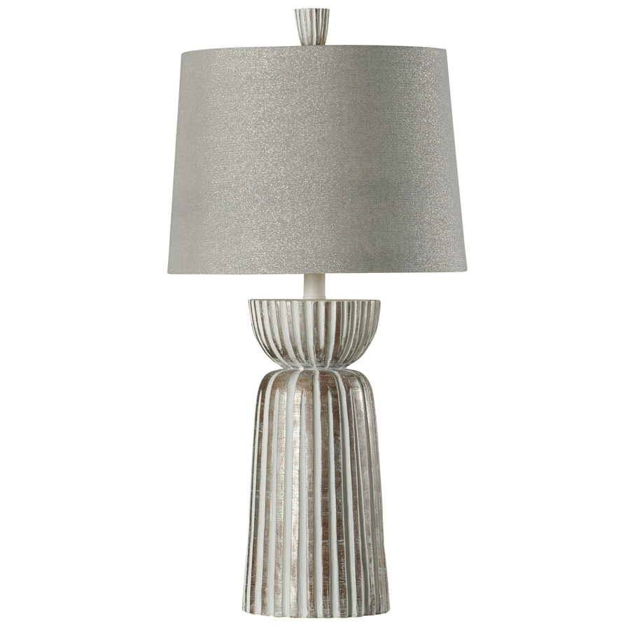 StyleCraft Home Collection 34-in Mcallen Standard 3-Way Switch Table Lamp with Fabric Shade