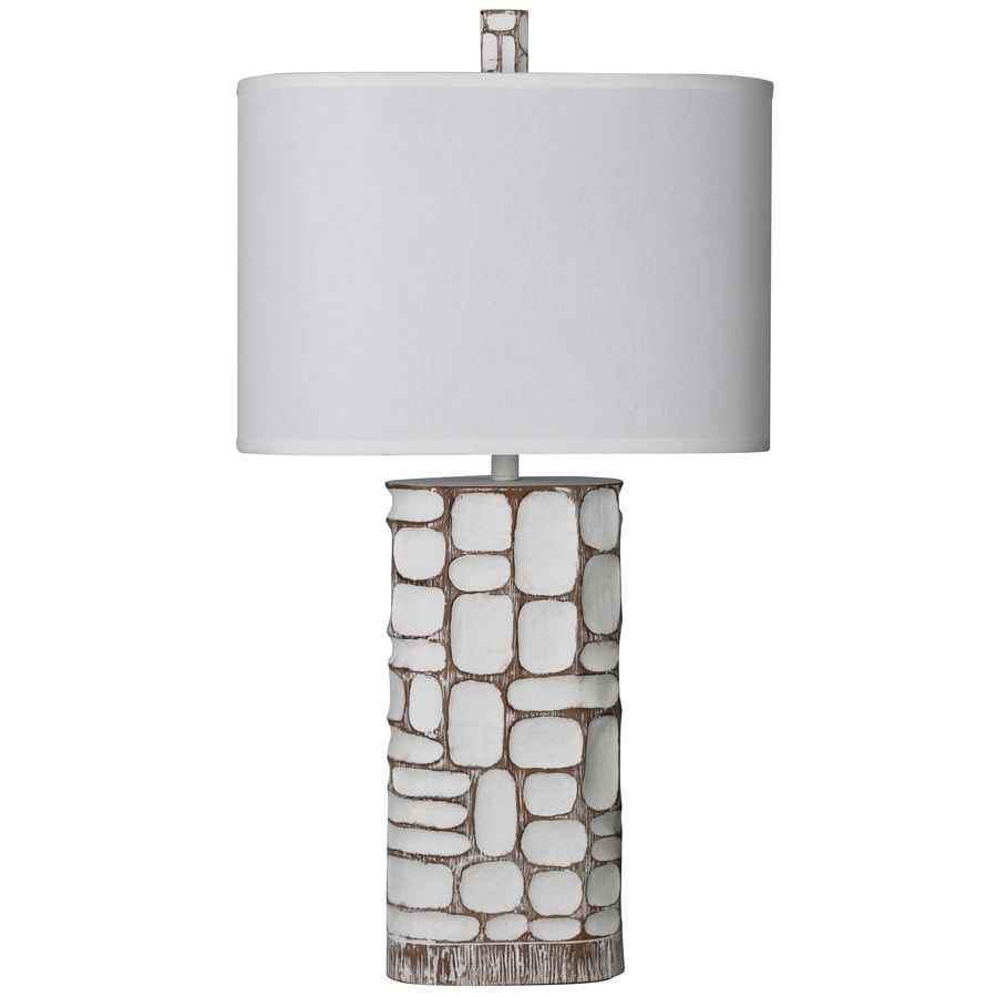 StyleCraft Home Collection 35-in Mcallen Standard 3-Way Switch Table Lamp with Fabric Shade