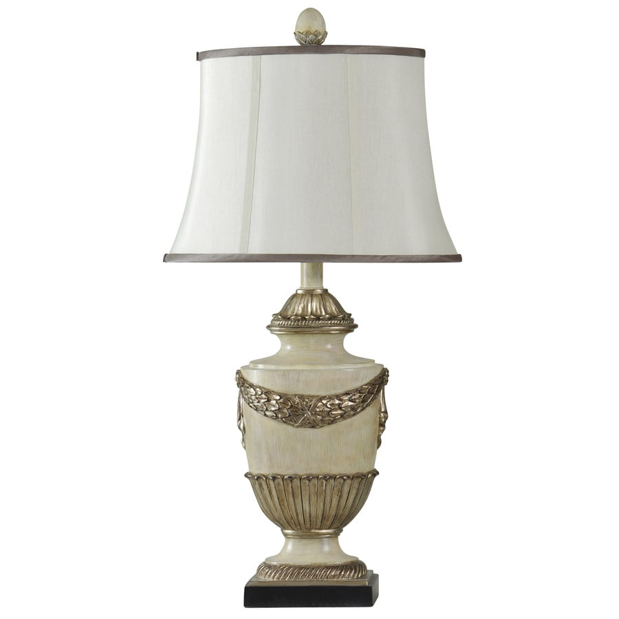 StyleCraft Home Collection 32-in Dayton Standard 3-Way Switch Table Lamp with Fabric Shade