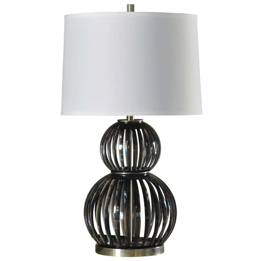 StyleCraft Home Collection 34-in Easton Standard 3-Way Switch Table Lamp with Fabric Shade