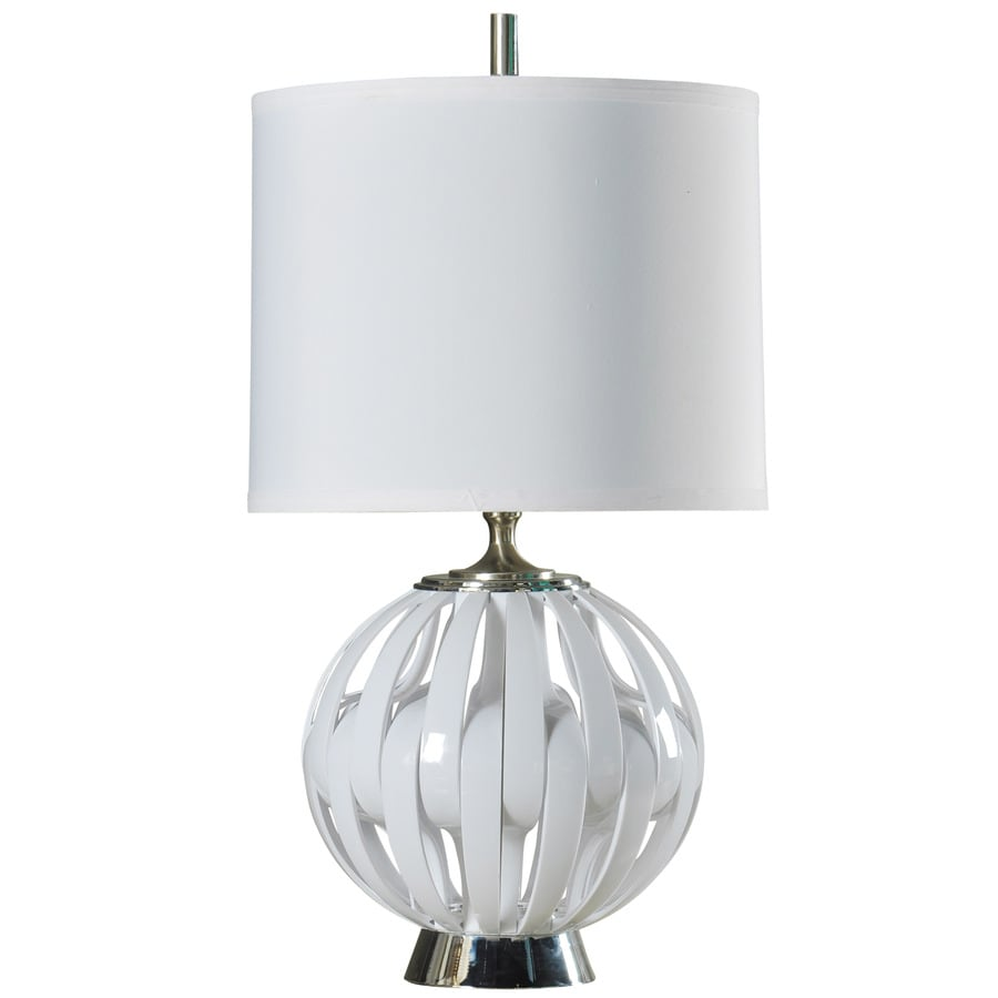 StyleCraft Home Collection 35-in Ocala Standard 3-Way Switch Table Lamp with Fabric Shade