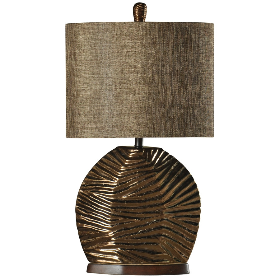 StyleCraft Home Collection 32-in 3-Way Padova Indoor Table Lamp with Fabric Shade