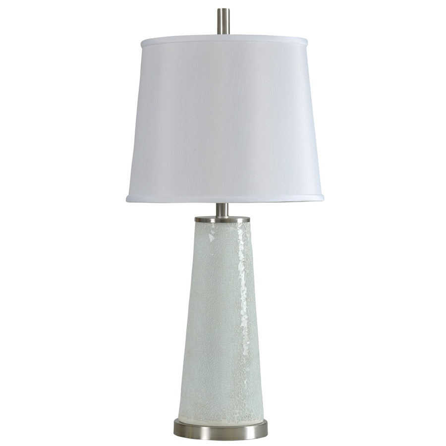 StyleCraft Home Collection 32-in 3-Way Switch Elmira Pearl Indoor Table Lamp with Fabric Shade