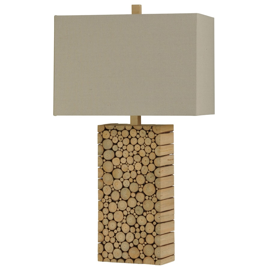 StyleCraft Home Collection 31-in Tinder Standard 3-Way Switch Table Lamp with Fabric Shade