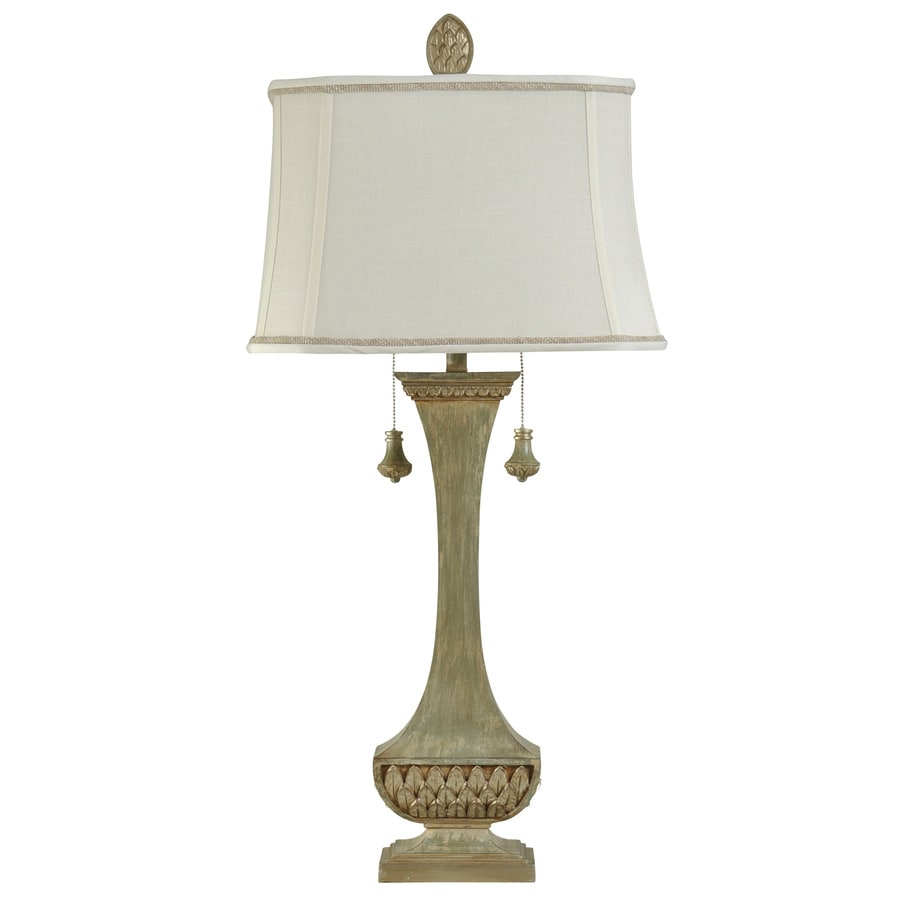 StyleCraft Home Collection 40-in Bellevue Standard 3-Way Switch Table Lamp with Fabric Shade