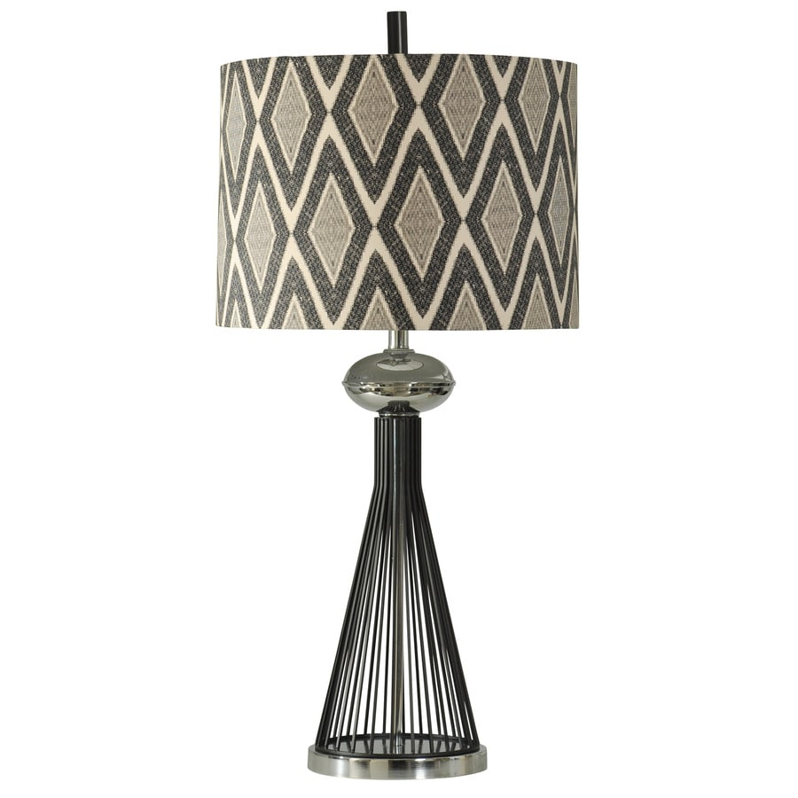 StyleCraft Home Collection 36-in Luzon Standard 3-Way Switch Table Lamp with Fabric Shade