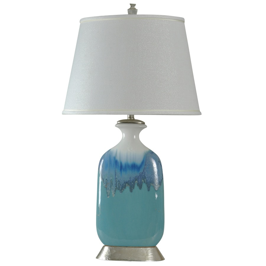 StyleCraft Home Collection 36-in 3-Way Beach Grove Indoor Table Lamp with Fabric Shade