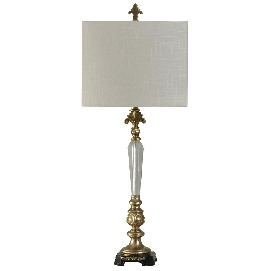 StyleCraft Home Collection 38-in Exeter Standard 3-Way Switch Table Lamp with Fabric Shade