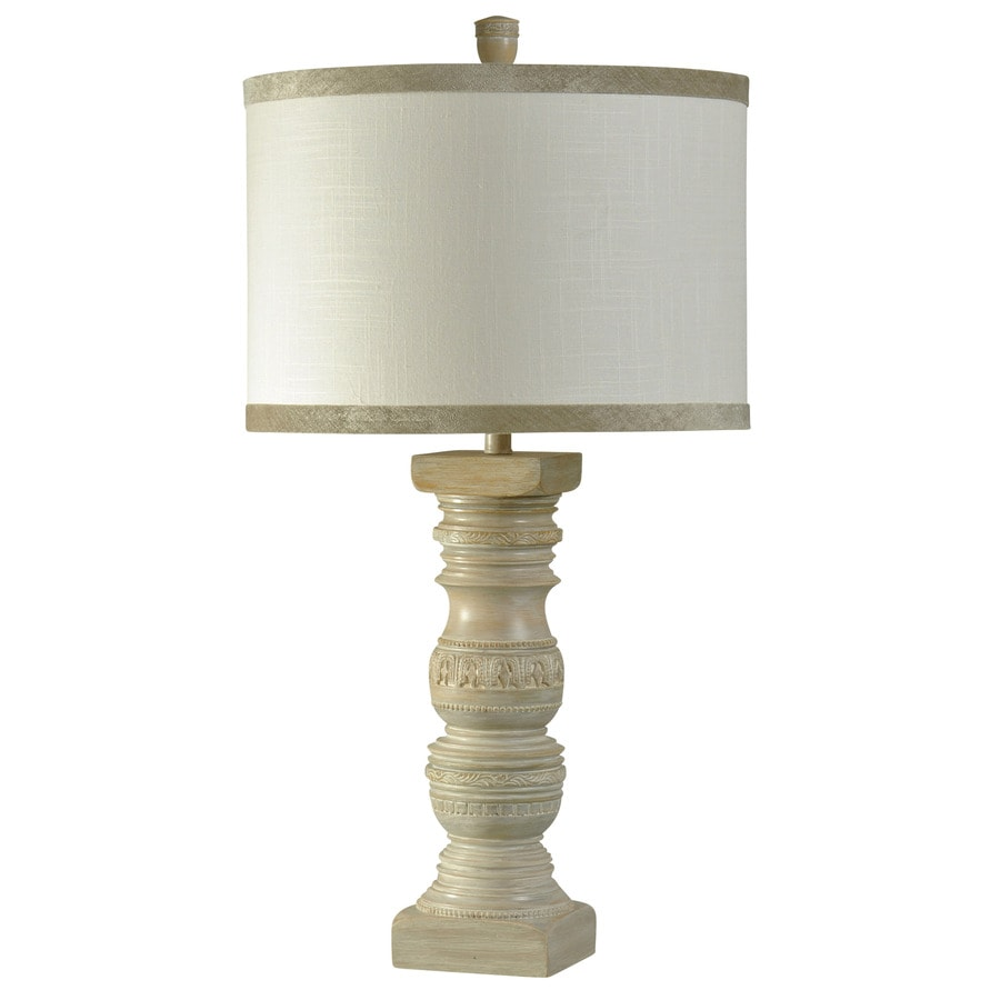 StyleCraft Home Collection 34-in Magellan Standard 3-Way Switch Table Lamp with Fabric Shade