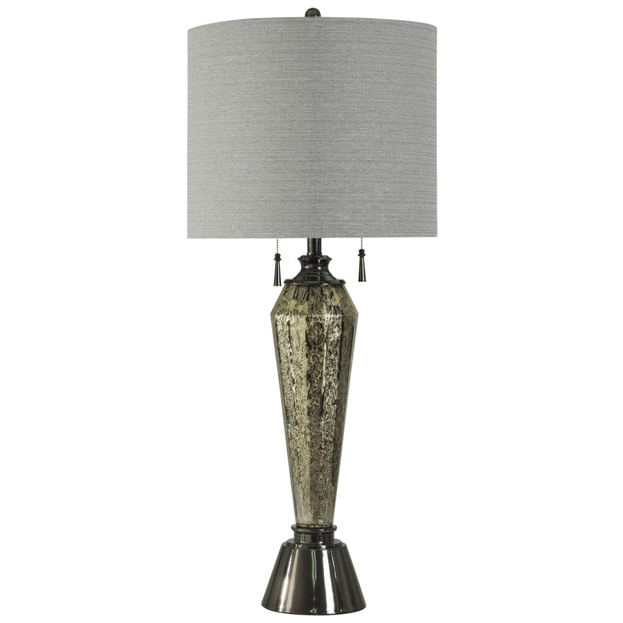 StyleCraft Home Collection 40-in Warsaw Standard 3-Way Switch Table Lamp with Fabric Shade