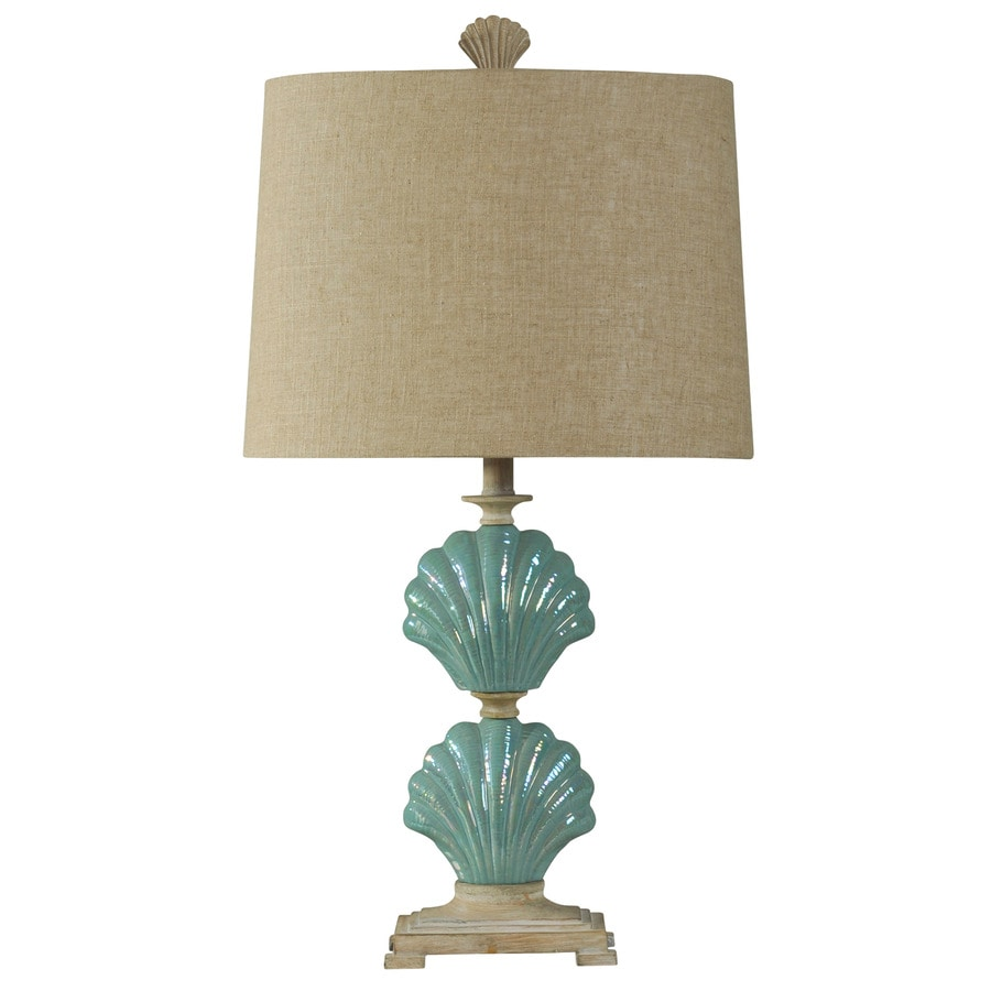 StyleCraft Home Collection 31-in Gili Beach Standard 3-Way Switch Table Lamp with Fabric Shade