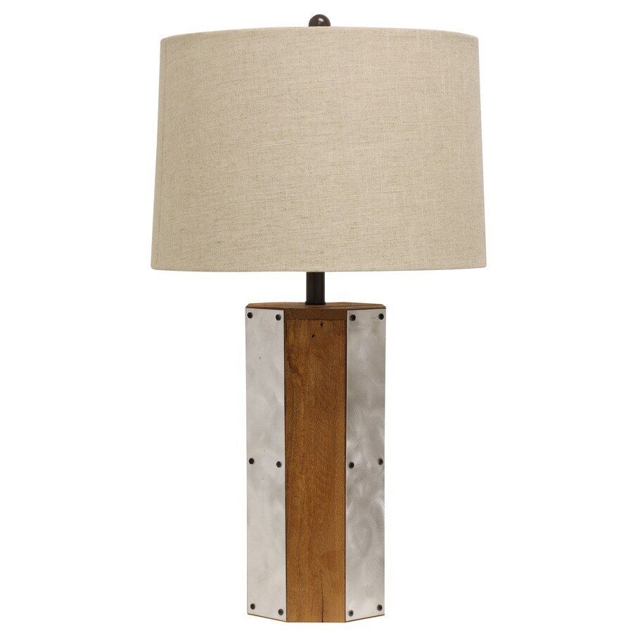 StyleCraft Home Collection 31-in 3-Way East Elm Indoor Table Lamp with Fabric Shade