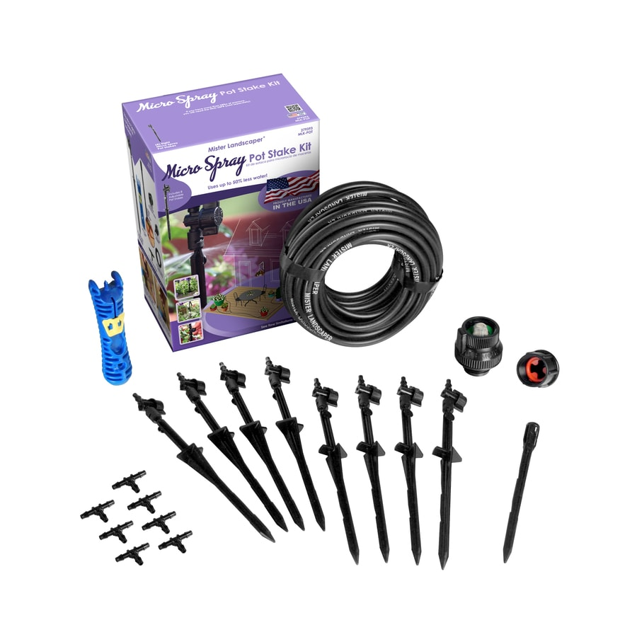 Shop mister landscaper drip irrigation patio kit at lowes