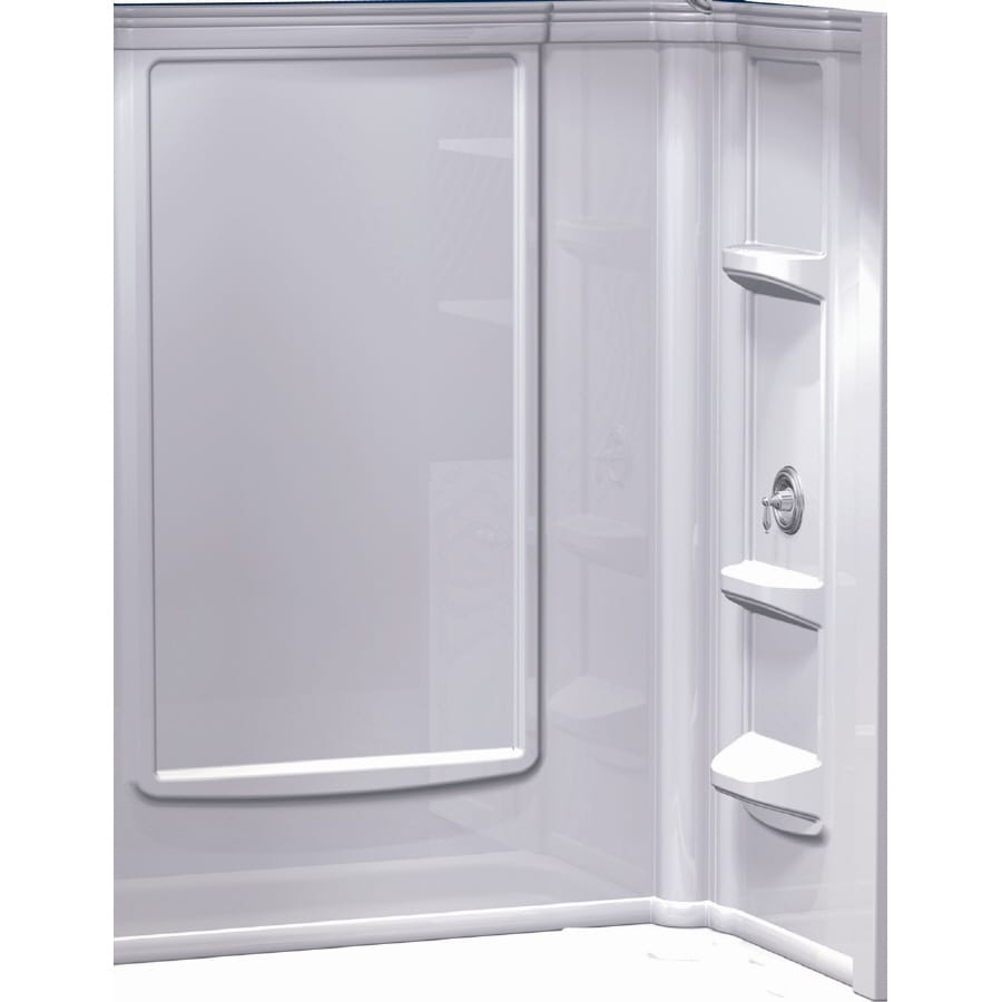 Shop Aqua Glass Shower Wall Surround Back Panel (Actual: 72-in x 48 ...