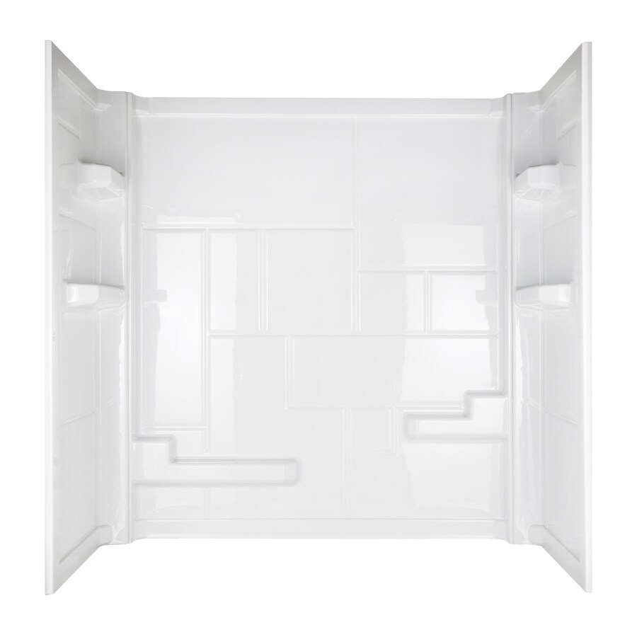 Aqua Glass Divani High-Impact Polystyrene Bathtub Wall Surround (Actual: 60-in x 32-in x 60-in)