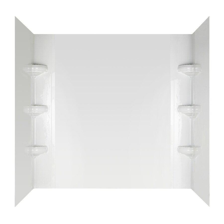 Aqua Glass Avondale High-Impact Polystyrene Bathtub Wall Surround (Actual: 58-in x 32-in x 60-in)