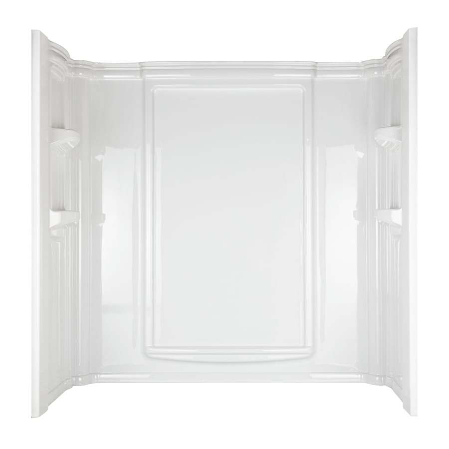 Aqua Glass Eleganza High Gloss White High-Impact Polystyrene Bathtub Wall Surround (Common: 32-in x 60-in; Actual: 61.25-in x 33.375-in x 60-in)