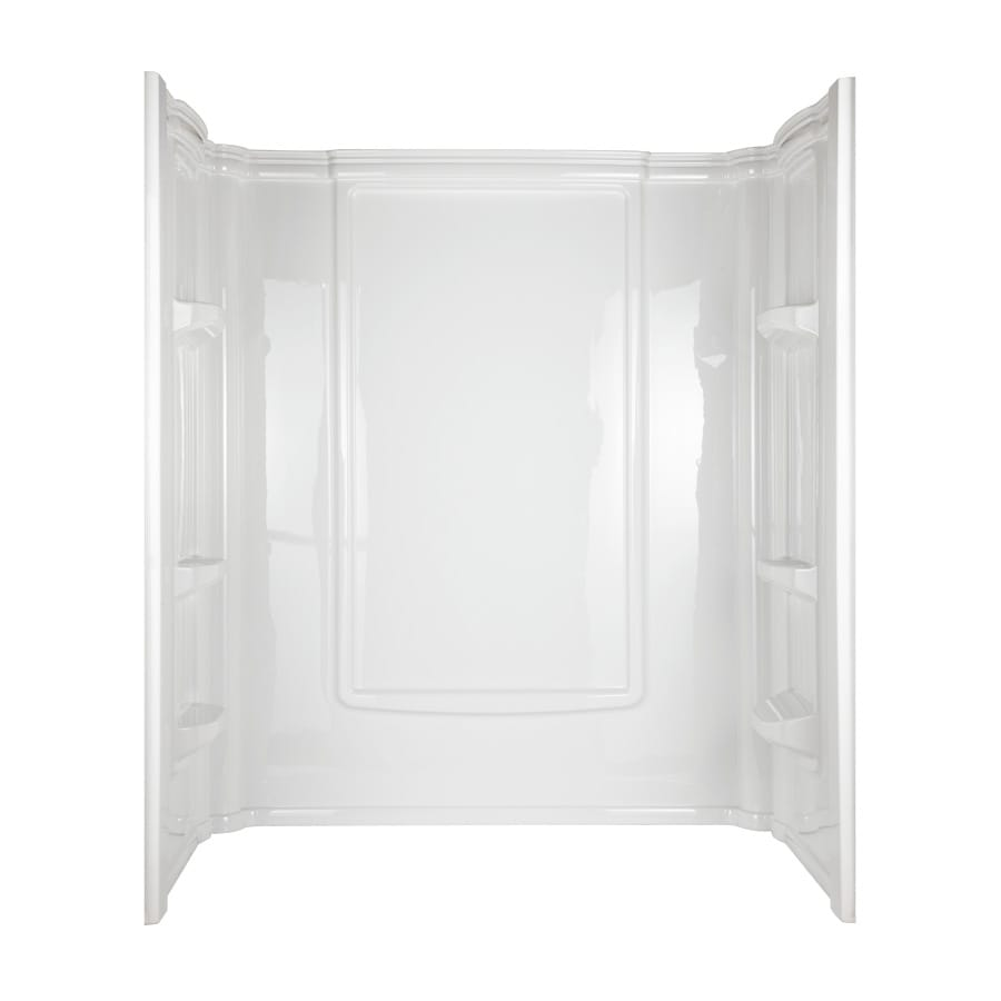 Aqua Glass Eleganza Shower Wall Surround Side and Back Panels (Actual: 72-in x 34-in)