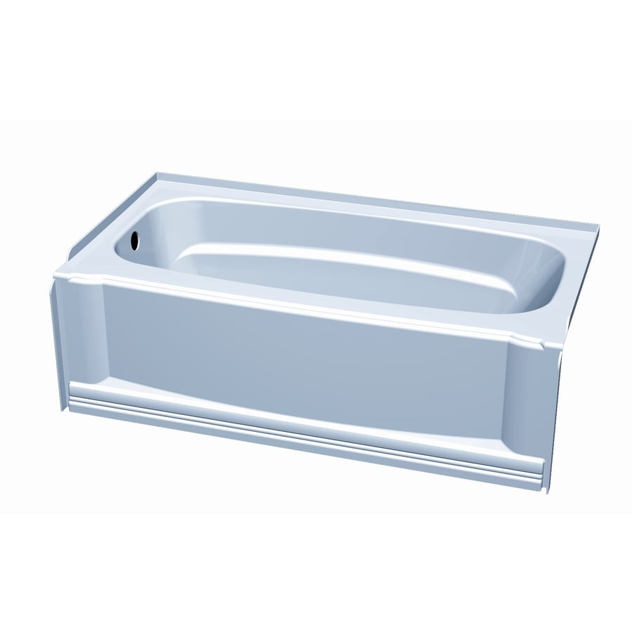 Shop Aqua Glass Eleganza High-Gloss White High-Impact Polystyrene ...