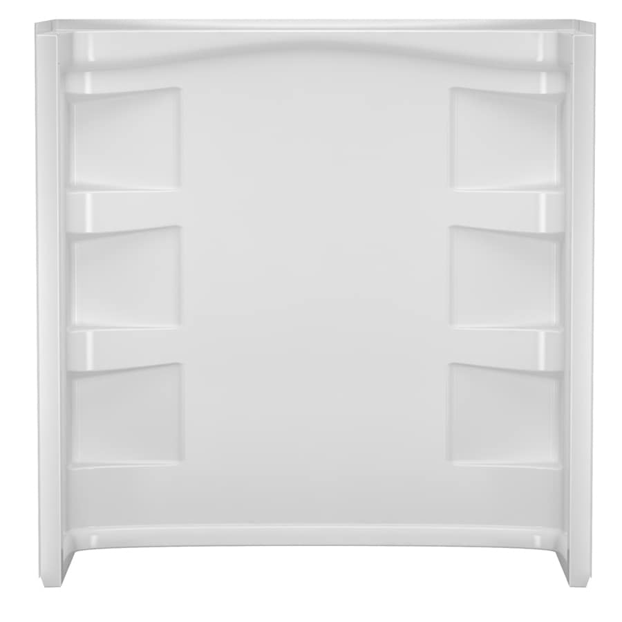 Peerless Selva 60-in W x 30-in D x 61.3125-in H High Gloss White Polystyrene Bathtub Wall Surround
