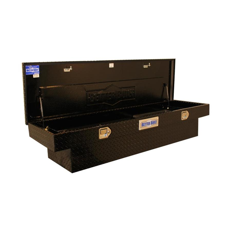 Better Built 61-1/2-in x 20-in x 13-in Black Powder Coat Aluminum Mid-Size Truck Tool Box