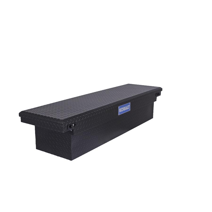 Kobalt 69-in x 20-in x 13-in Powder Coated Matte Black Aluminum Full-Size Truck Tool Box