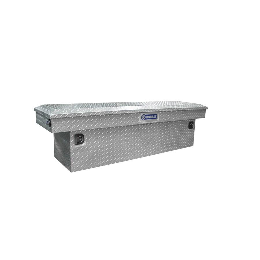 Kobalt 69-in x 20-in x 13-in Powder Coated Quantum Silver Aluminum Full-Size Truck Tool Box