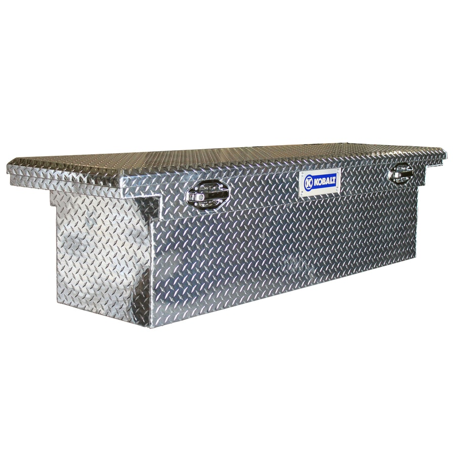 Kobalt 69-in x 20-in x 19-in Raw Aluminum Aluminum Full-Size Truck Tool Box