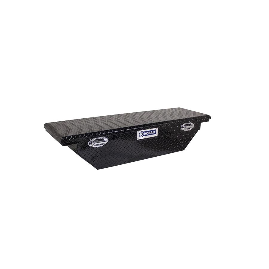 Kobalt 61.5-in x 20-in x 13-in Gloss Black Aluminum Mid-Size Truck Tool Box