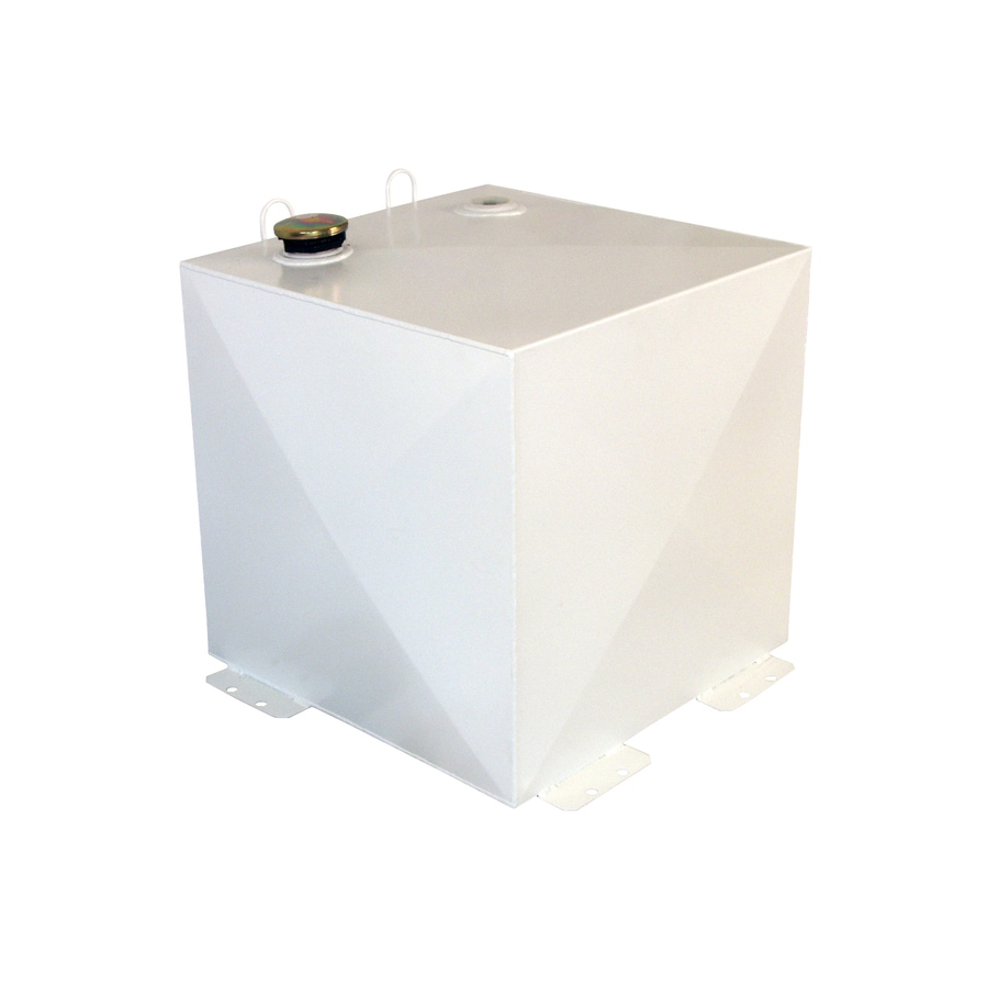 Better Built 50-Gallon White Steel 50-Gallon White Square Steel Truck Transfer Tank