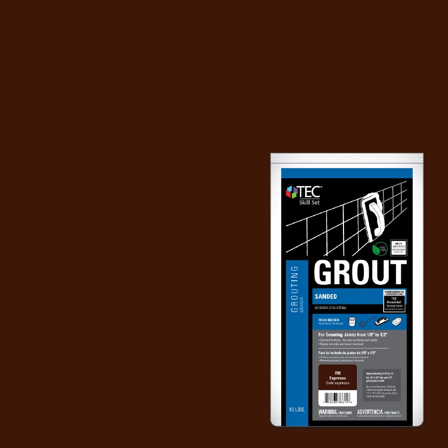 TEC Skill Set 10-lb Espresso Sanded Powder Grout