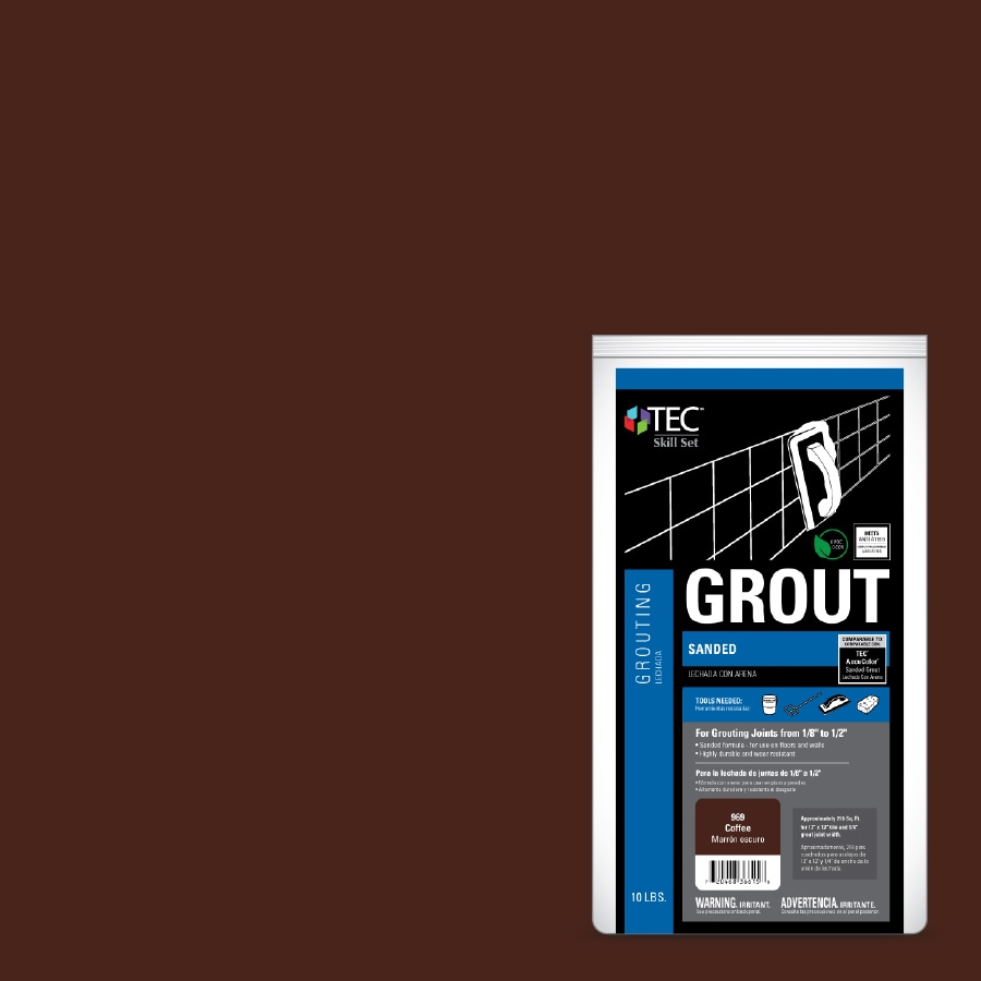 TEC Skill Set 10-lb Coffee Sanded Powder Grout