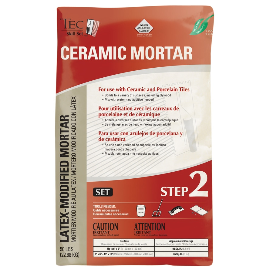 TEC Gray Powder Polymer-Modified Thinset Mortar